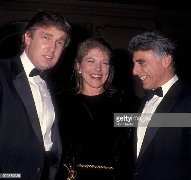 Donald Trump, Lynn Forester, and Andrew Stein November 28, 1988 attend Gala Honoring Andrew Stein