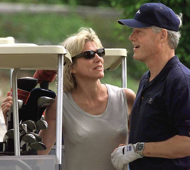 August 27, 1999.  Lynn Forester and President Bill Clinton at Martha's Vineyard.