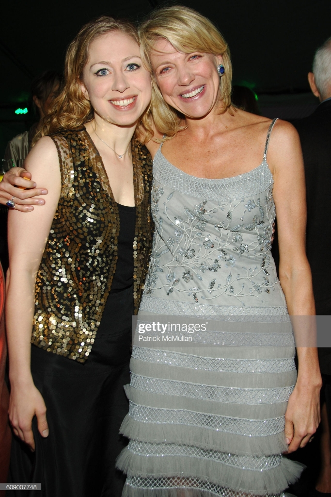 Chelsea Clinton and Lady Lynn De Rothschild attend American Patrons of the Tate Artists Dinner at Riverfront Pavilion on May 8, 2007 in New York City. (Photo by NEIL RASMUS/Patrick McMullan via Getty Image