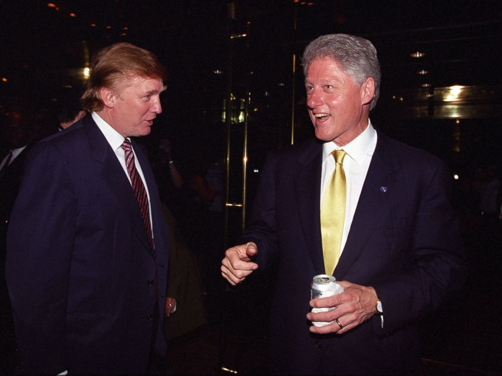 June 16, 2000.  President Bill Clinton and Donald Trump at fundraiser Trump Tower