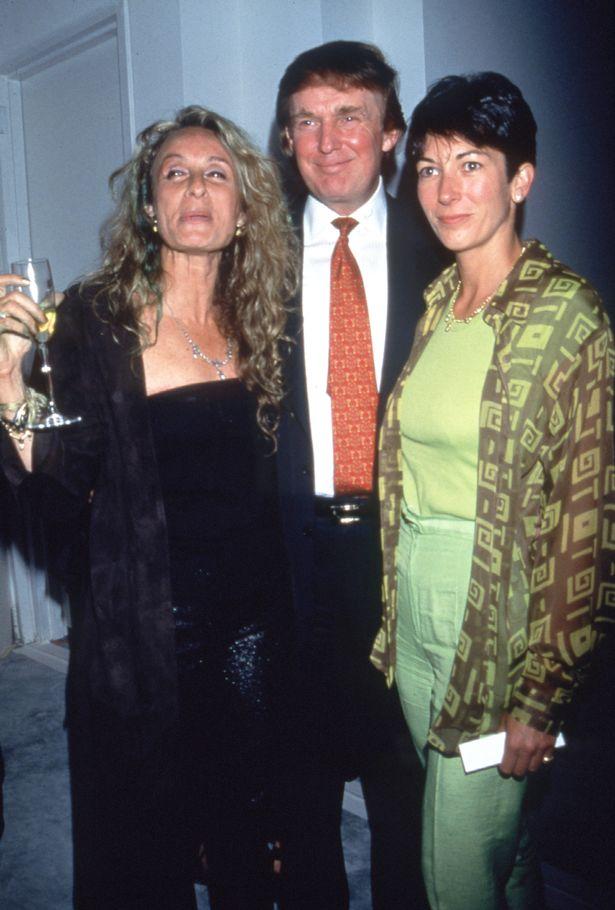 April 28, 1997. Ann Jones, Donald Trump and Ghislaine Maxwell at Trump Tower