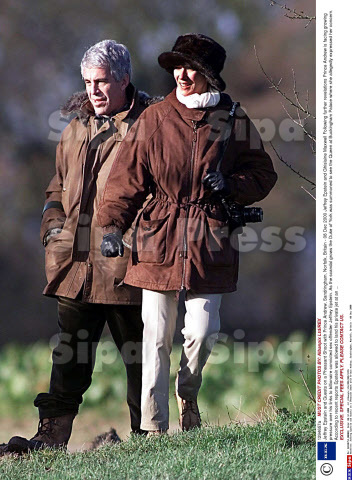 December 8, 2000.  Ghislaine Maxwell and Jeffrey Epstein visit the Queen's country estate, Sandringham.