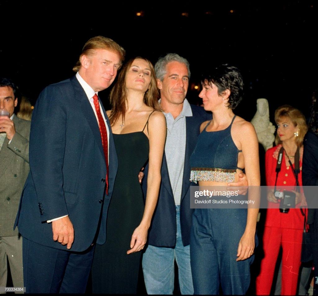 February 12, 2000.  Donald Trump, Melania Trump, Jeffrey Epstein, and Ghislaine Maxwell at Maralago party.