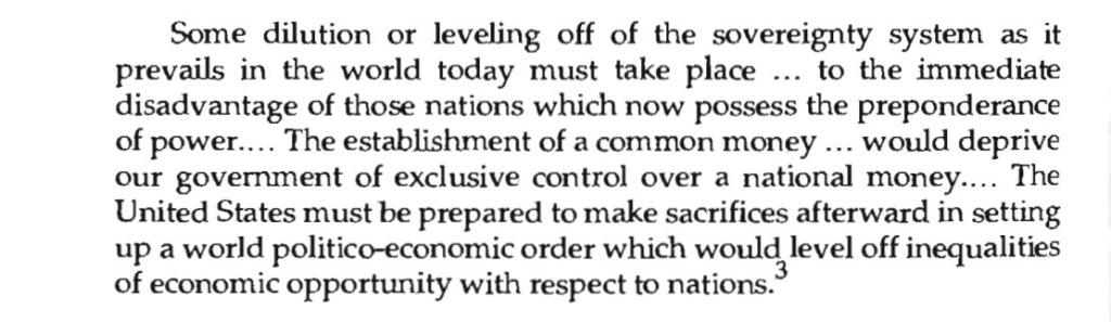 John Dulles 1939 world government