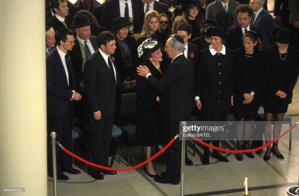 Shimon Peres, Ghislaine Maxwell, Robert Maxwell death November 10, 1991 Jerusalem