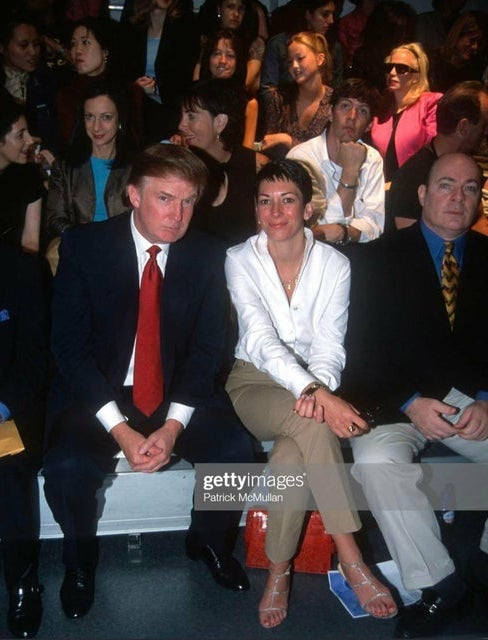 September 8, 2000.  Ghislaine Maxwell and Donald Trump attend fashion show in New York