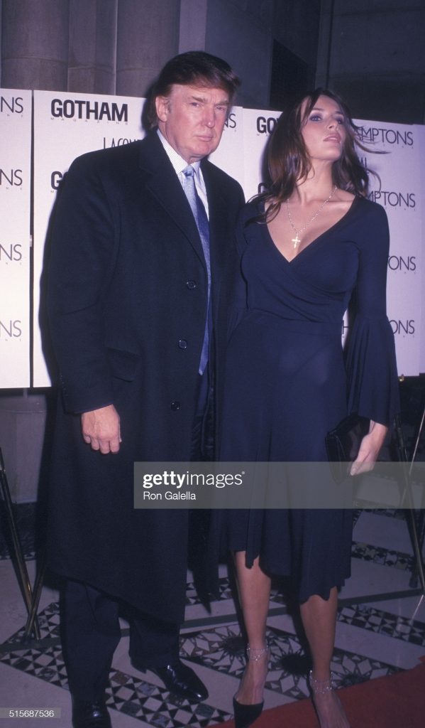 Donald Trump and Melania Knauss attend Gotham Magazine Press Party on January 14, 2003 at Cipriani in New York City