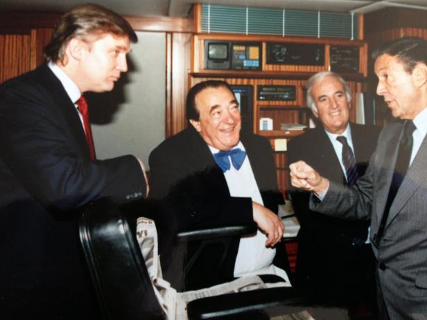 Donald Trump, Robert Maxwell, Dan Rather on Lady Ghislaine May 17, 1989