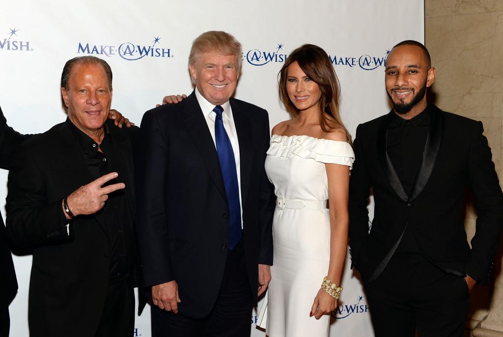 June 6, 2013.  Stewart Rahr, Donald Trump, Melania Trump Make a Wish foundation in New York