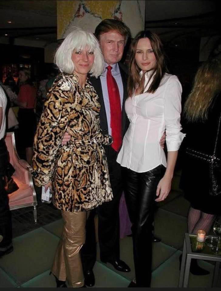 October 31, 1997  Ghislaine Maxwell, Donald Trump and Melania Trump