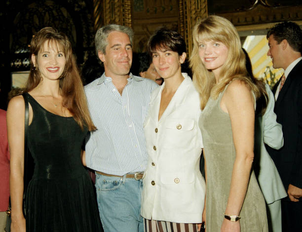 1995.  Ghislaine Maxwell and Jeffrey Epstein attend a party at Donald Trump's Maralago property.