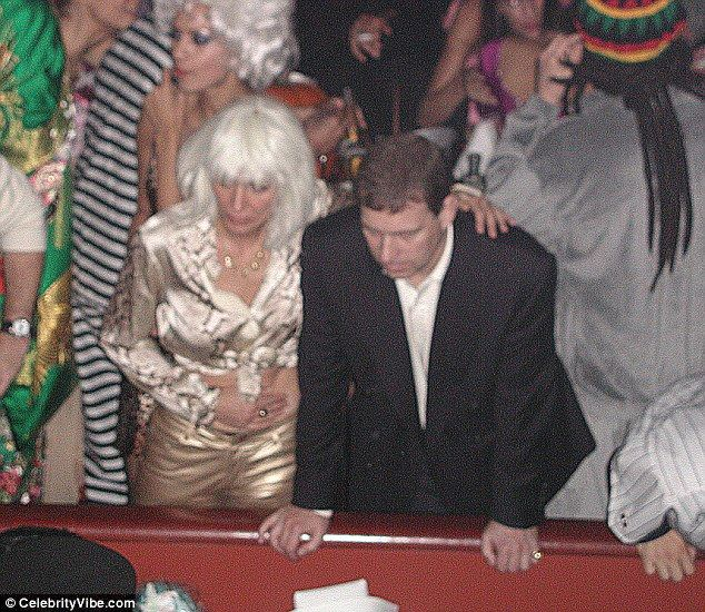 """October 31, 2000.   Ghislaine Maxwell and Prince Andrew at """"hookers and pimps"""" party in New York"""