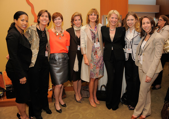 """May 24, 2011.  Lynn Forester de Rothschild and Chelsea Clinton attend """"Most Powerful Women Dinner"""" in New York City."""