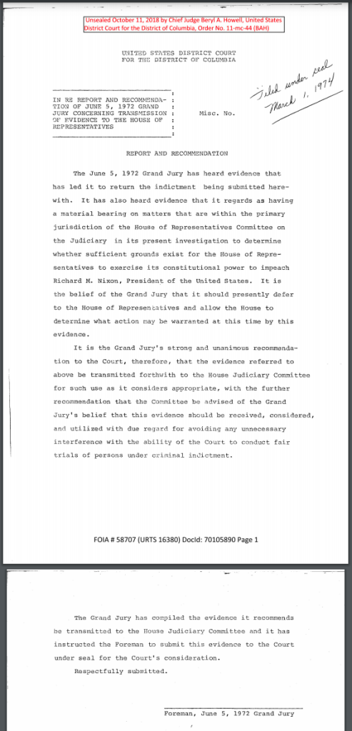 Indictment of Richard Nixon June 5, 1972