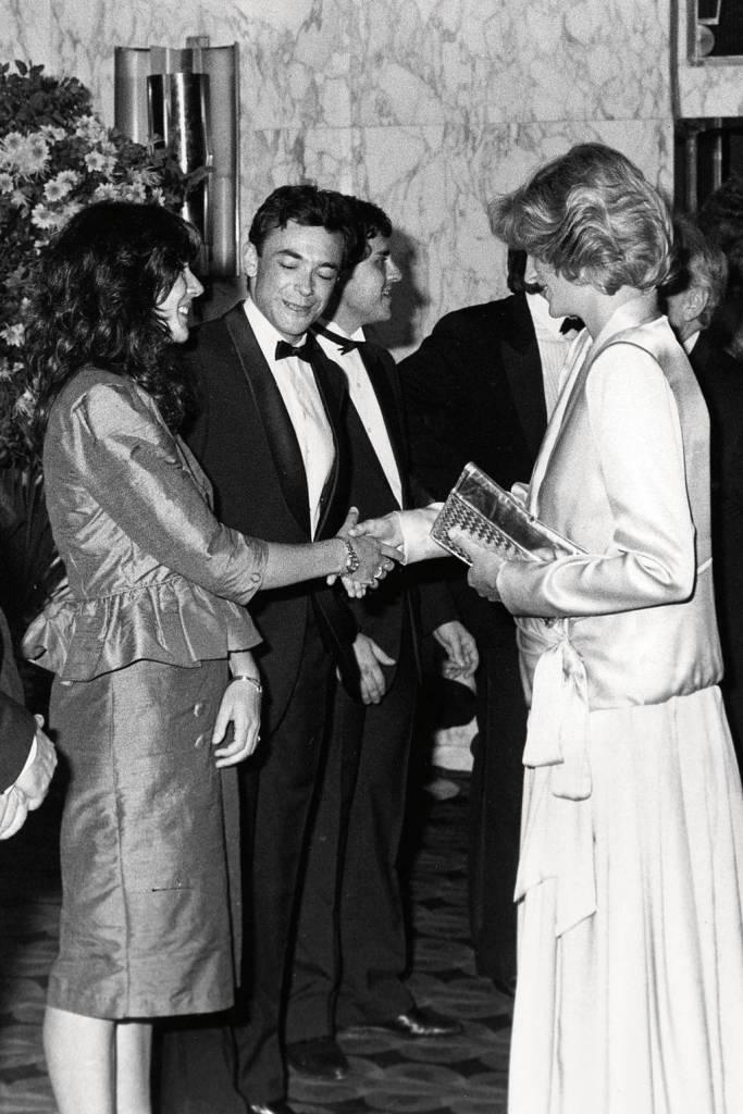 June 1984 Ghislaine Maxwell greets Princess Diana