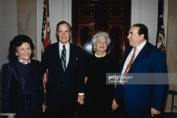 Robert Maxwell, George Bush at President Inauguration January 20, 1989