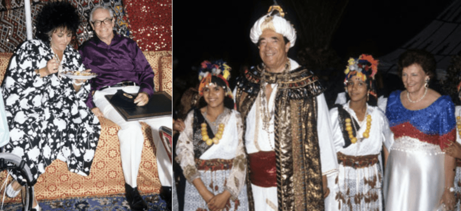 Robert Maxwell Malcolm Forbes King of Morocco wedding August 19, 1989