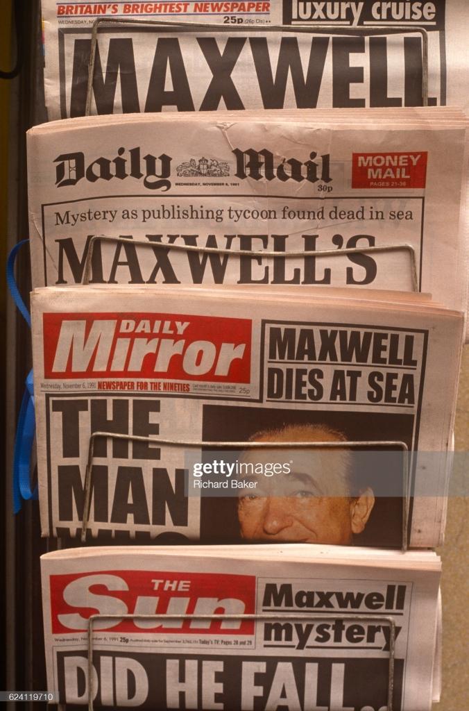 Robert Maxwell death Daily Mail November 5, 1991