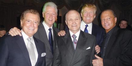 June 25, 2009.  Rhegis Philbin, Bill Clinton, Donald Trump, Stewart Rahr