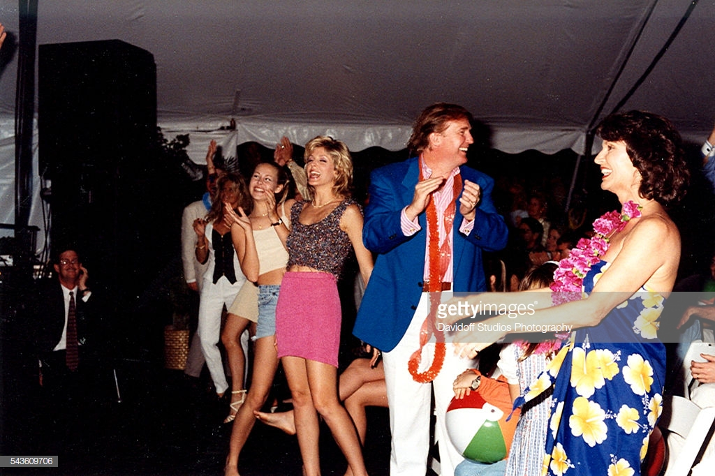 March 16, 1996.  Chelsea Clinton, Donald Trump and Marla Trump at Beach Boys concert at Maralago