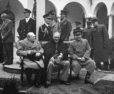 1945 Yalta Conference Winston Chruchill, FDR, and Joseph Stalin