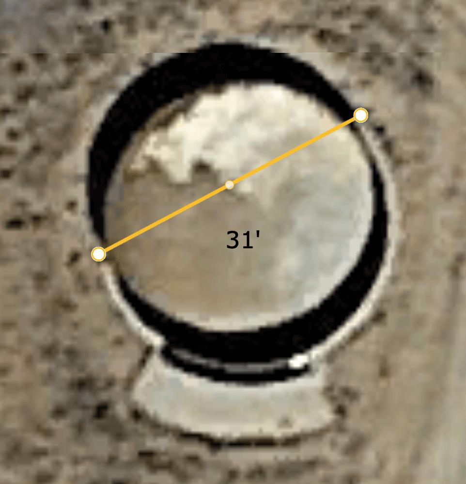 Unknown structure on Jeffrey Epstein's Zorro Ranch.   Corey's Dig