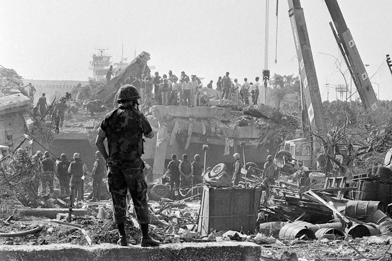 October 22, 1983 Marine barracks bombing Beirut Lebanon