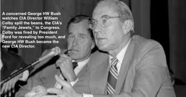 George Bush concerned that William Colby is talking too much