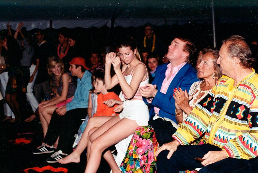 March 16, 1996 Ivanka Trump, Donald Trump, Mary Ann Trump, Fred Trump, Marla Trump at Beach Boys concert Maralago