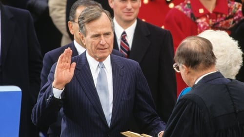 George Bush inaugurated 41st President of the United States
