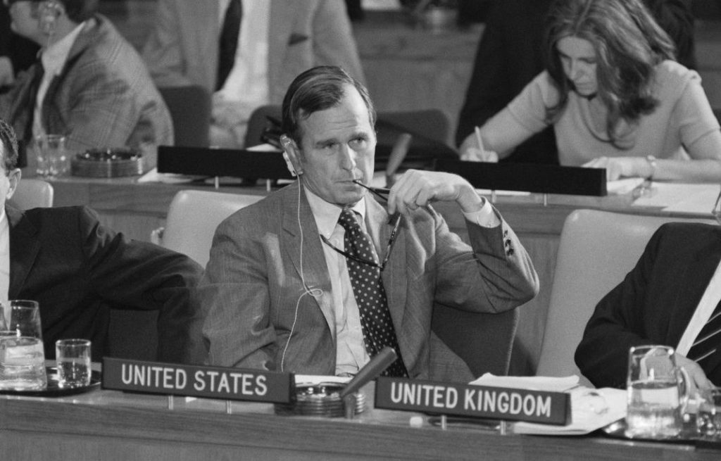George Bush United Nations October 25, 1971 Resolution 2758 expel Taiwan