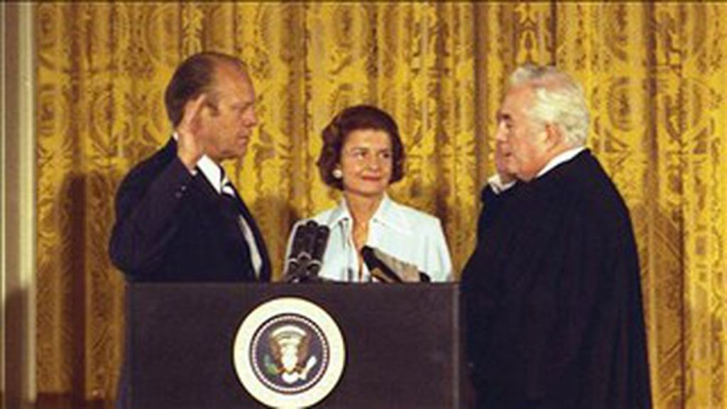 August 9, 1974.  Gerald Ford sworn in as President.
