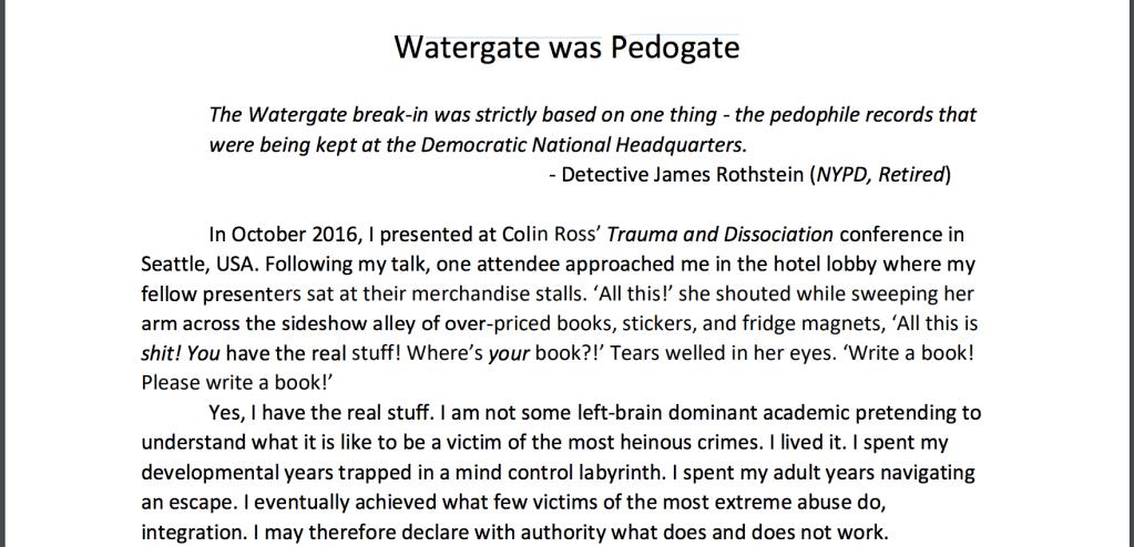Watergate was Pedogate, Fiona Barnett