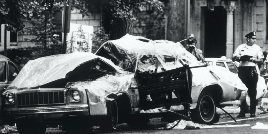 George Bush CIA car bomb Orlando Letelier, Ronni Moffet, Washington DC Embassy Row September 21, 1976