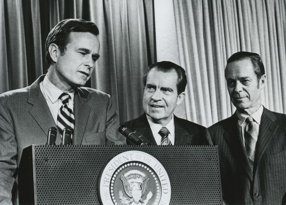 Richard Nixon appoints George Bush Ambassador to United Nations December 11, 1970