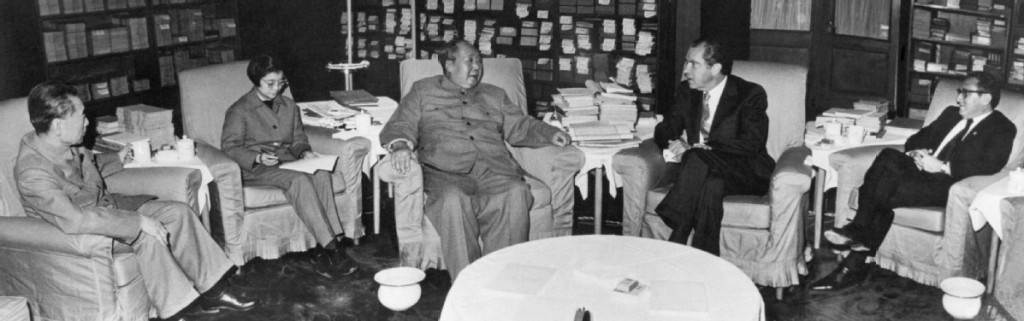 Only Nixon can go to China, February 21, 1972 with Mao Zedong and Henry Kissinger