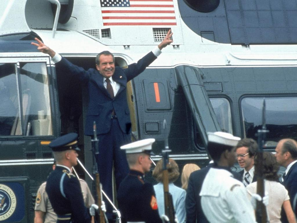 August 8, 1974.  Richard Nixon resigns as President.