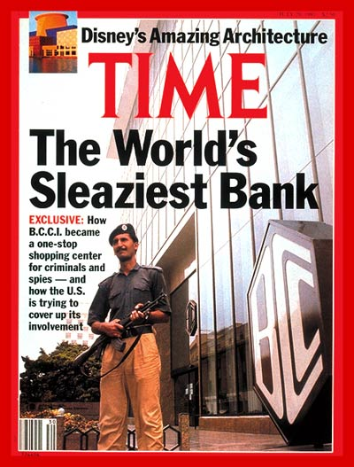 July 29, 1991.   Time magazine cover BCCI World's Sleaziest Bank