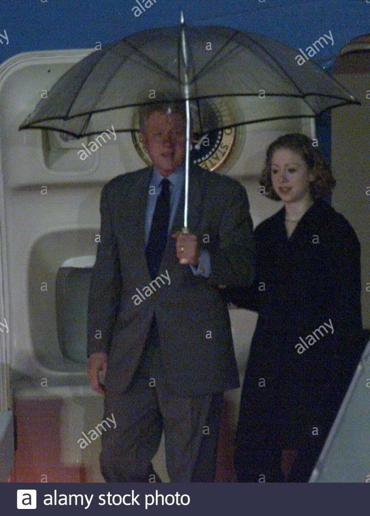 Bill Clinton and Chelsea Clinton Air Force One, Brunei, November 14, 2000