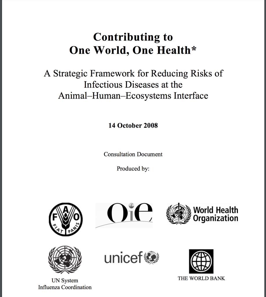 Rockefeller, World Health Organization, World Bank, One World, One Health