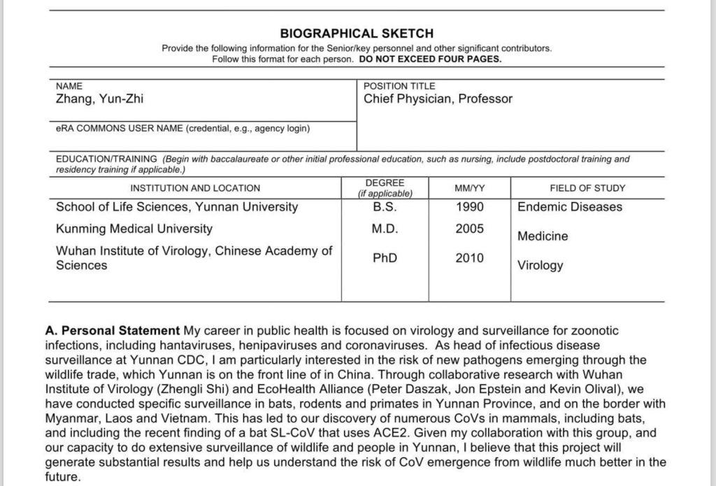 Yun-Zhi Zhang ACE2 Receptor Wuhan Institute of Virology